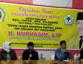 H. Nurhasim Anggota DPRD Kota Depok Dari Fraksi Golkar Jaring Aspirasi Masyarakat Melalui Reses.